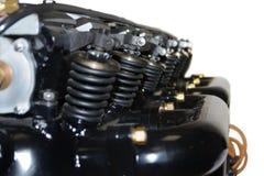 Zuigermotor voor vliegtuig Stock Foto