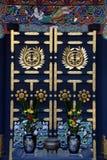 Zuihoden mausoleumdörr Royaltyfria Bilder