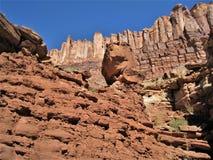 Zuilvormig Basalt in Canionland royalty-vrije stock foto's