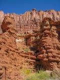 Zuilvormig Basalt in Canionland royalty-vrije stock fotografie