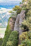 Zuilvormig basalt in Hongarije stock fotografie