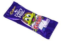 Zuivel de Melkchocolabar van Cadburyfreddo Royalty-vrije Stock Foto's