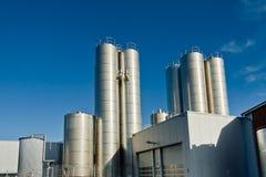 zuivelfabriek stock foto