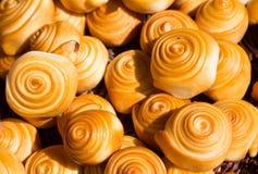Zuivelproduct, gerookte kaasspiralen, genoemd parenyica royalty-vrije stock afbeelding