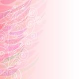 Zuiver Abstract roze bloemen verlaten patroon als achtergrond Stock Afbeelding