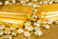 Zuiver goud Stock Foto