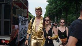 Zuiver goud in Berlijn, Tiergarten-Park stock afbeelding