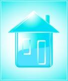 Zuiver huissilhouet op blauwe achtergrond Stock Foto's