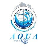 Zuiver water vector abstract symbool voor gebruik in mineraalwater adver Stock Afbeeldingen