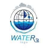 Zuiver water vector abstract symbool voor gebruik in mineraalwater adver Stock Afbeelding