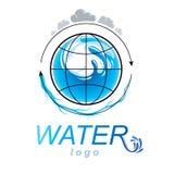 Zuiver water vector abstract symbool voor gebruik in mineraalwater adver royalty-vrije illustratie