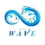 Zuiver water vector abstract teken voor gebruik als bedrijfsembleem in SP Royalty-vrije Stock Afbeelding