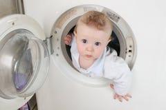 Zuivere baby van wasmachine Royalty-vrije Stock Fotografie