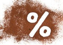 Zuivere cacao Royalty-vrije Stock Foto