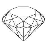 Zuivere Diamant Royalty-vrije Stock Afbeelding
