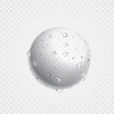 Zuivere duidelijke waterdalingen op oppervlakte Vector realistische druppeltjesnevel vector illustratie