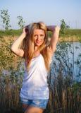 Zuivere, Natuurlijke, Mooie Vrouw Stock Foto's