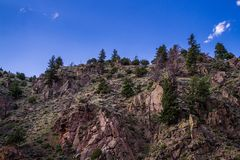 Zuivere steile hellingen in Rocky Mountains Colorado, Verenigde Staten stock afbeelding