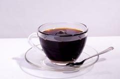 Zuivere zwarte koffie Stock Foto