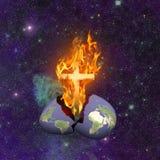 Zuiverende brand stock illustratie