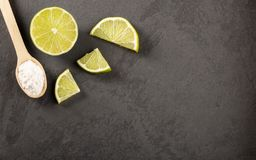 Zuiveringszout met citroen - Tekstruimte stock fotografie