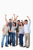 Zujubelnde Gruppe von Personen lizenzfreie stockfotos