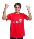 Zujubelnder Fan von Chile Lizenzfreie Stockbilder