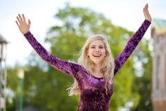 Zujubelndes blondes Art und Weisebaumuster Lizenzfreie Stockbilder