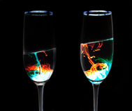 Zukünftige Duo-Gläser Stockfotos