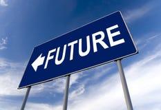 Zukünftige Konzeptanschlagtafel Stockfotografie