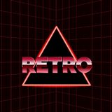 Zukünftige Retro- Linie Hintergrund der achtziger Jahre Vector futuristisches synth Retro- Posterart der Wellenillustration im Ja Lizenzfreie Stockbilder