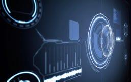 Zukünftige Schnittstelle Digital-Elemente Stockbild