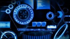 Zukünftige Schnittstelle Digital-Elemente Lizenzfreie Stockfotografie