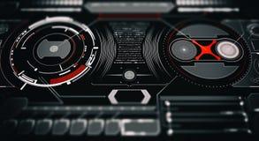 Zukünftige Schnittstelle Digital-Elemente Stockfotos