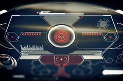 Zukünftige Schnittstelle Digital-Elemente Lizenzfreies Stockfoto