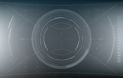 Zukünftige Schnittstelle Digital-Elemente Lizenzfreies Stockbild