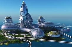 Zukünftige Stadt lizenzfreie abbildung