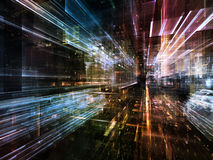 Zukünftige Stadt Lizenzfreies Stockfoto