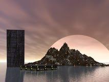 Zukünftige Stadt stock abbildung