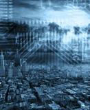 Zukünftige Stadtlandschaft Stockfoto