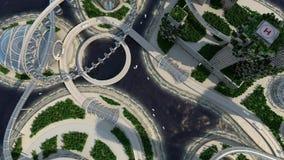 Zukünftige Stadtskyline des Konzeptes Futuristisches Geschäftsvisionskonzept lizenzfreie abbildung