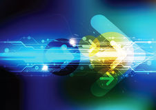Zukünftige Technologie mit Pfeil Lizenzfreie Stockfotos