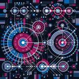 Zukünftige Technologievektorzeichnung, industrielle Tapete graphik Lizenzfreies Stockfoto