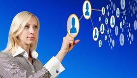 Zukünftige Vernetzung Lizenzfreie Stockfotos
