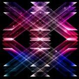 Zukünftiger Beschaffenheitsraum der abstrakten Dreieckformen Stockbilder