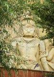 Zukünftiger Buddha Maitreya Buddha 28. an Mulbekh-Dorf, Indien Lizenzfreie Stockbilder