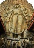 Zukünftiger Buddha Maitreya Buddha 28. an Mulbekh-Dorf, Indien Stockfoto