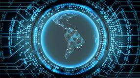 Zukünftiger Technologie Cyber-Konzept-Hintergrund 3d sehr schöne dreidimensionale Abbildung, Abbildung Auch im corel abgehobenen  Stockbild