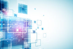 Zukünftiger Technologiehintergrund der abstrakten Technik Lizenzfreies Stockbild