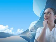 Zukünftiges Büro-Konzept Lizenzfreies Stockfoto